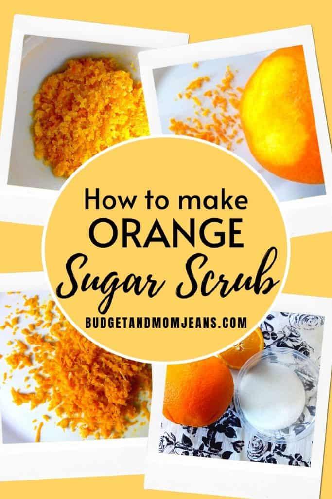 How To Make DIY Orange Zest Sugar Scrub